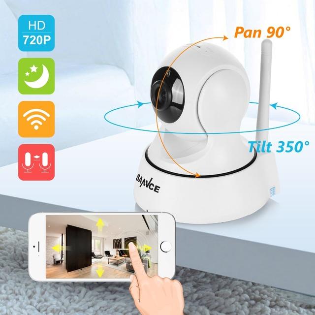 SANNCE 720 P Wireless IP CCTV Cámara IR Cut Filtro 6Led 3.6mm lente Día/de La Visión Nocturna de Vídeo Al Aire Libre impermeable Cámara de Vigilancia