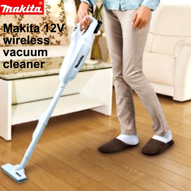 Japan Makita Rechargeable vacuum cleaner Household Handheld wireless 12V lithium battery Lithium battery display With LED lights new vacuum cleaner a380 d6601 with lithium ion battery low noise wireless robot vacuum cleaner super cyclone vacuum cleaner