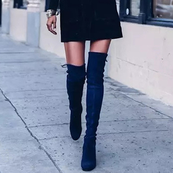 Sexy Elastic Flock Slim Fit Over The Knee Boots Women shoes 2020 Autumn Winter ladies high heel Long Thigh High botas spring autumn women over the knee boots thick high heel woman thigh high long boots high quality plus size 34 40 41 42 43 botas