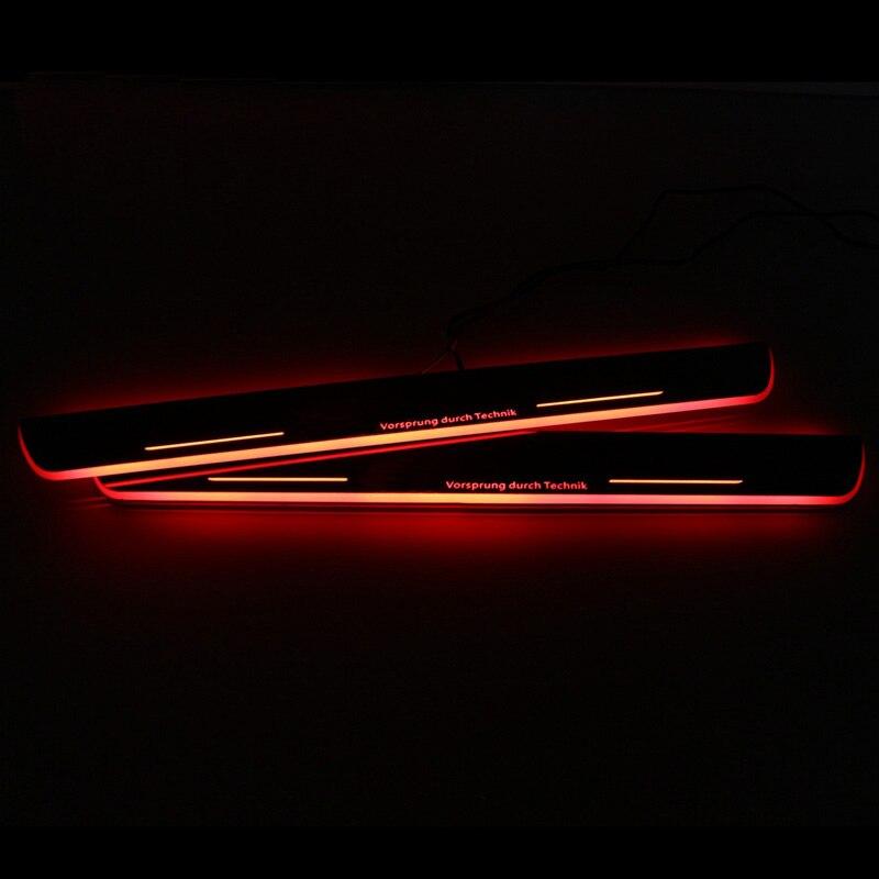 SNCN LED 車スカッフプレートプレートトリムペダルドア敷居経路移動用アウディ A4 B9 S4 RS4 2013  2015 2016 アクセサリー  グループ上の 自動車 &バイク からの インテリア モールディング の中 2