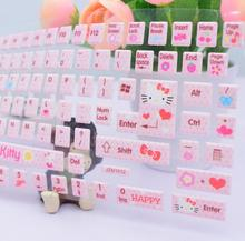 Notebook desktop computer bubble stickers lovely Hello Kitty stereo Keyboard Stickers protective film