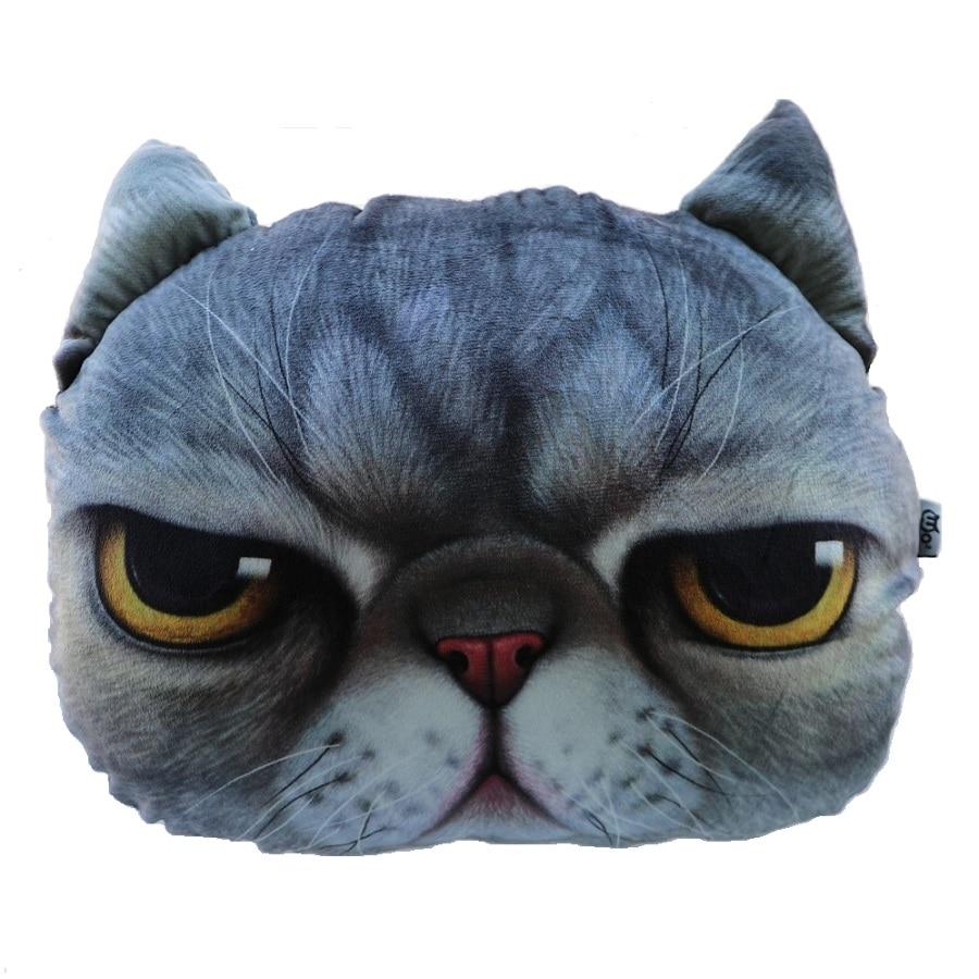 Творческий мультфильм подушка декоративная подушка кошка подушка кошка собака подушка подушка и моющаяся подушка
