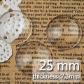 25MM/1 Inch  Round Flat Back clear Crystal glass Cabochon,Top quality;clear cabochon title;sold as 100pcs/lot-C1059