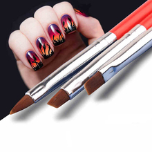 3pcs/set Kolinsky Acrylic French Nail Art Brushes Drawing Dotting Nail Brush Manicure Pen Styling Tools
