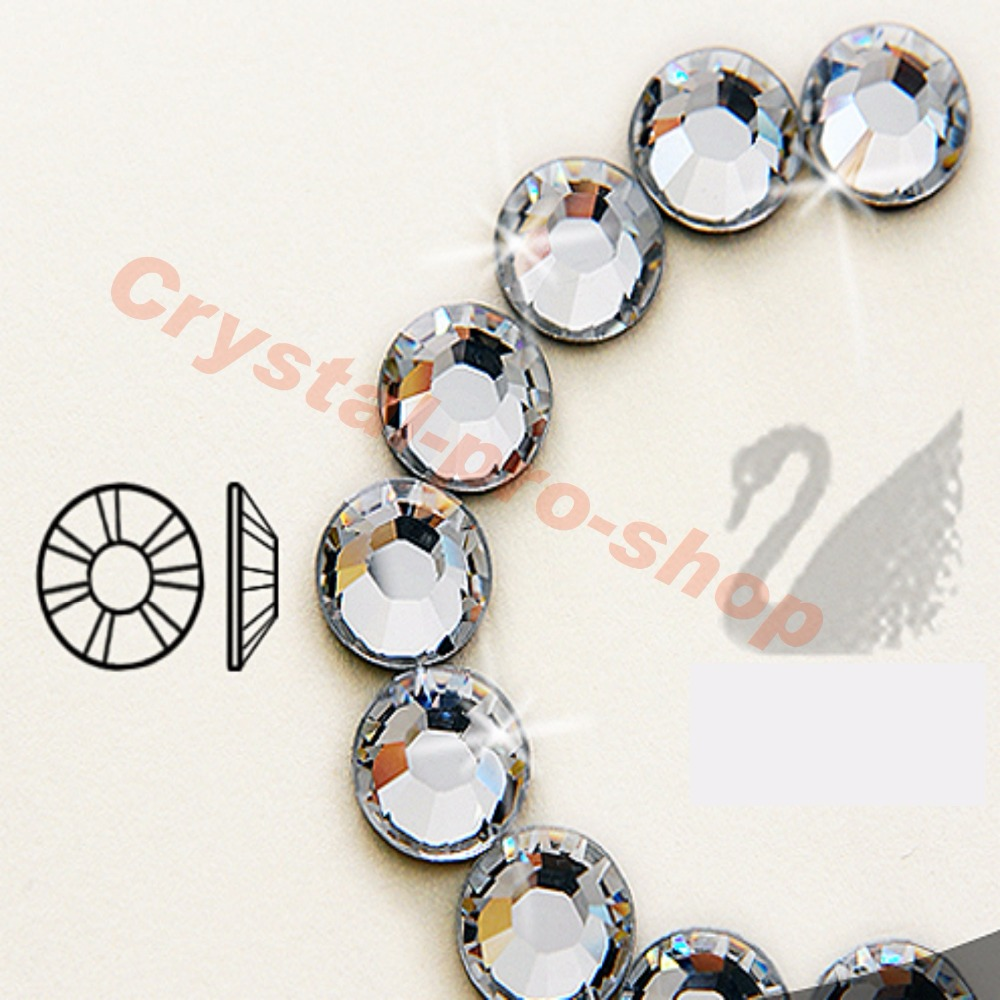 Swarovski Elements Crystal Clear (001) aucun Correctif (ss5-ss48) (2mm-11mm) cristal Flatback (144/12) strass