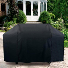 Black Waterproof Dustproof BBQ Cover Polyester Fibre Cloth Large BBQ Cover Gas Barbecue Grill Cover For Patio Protector 4 Size
