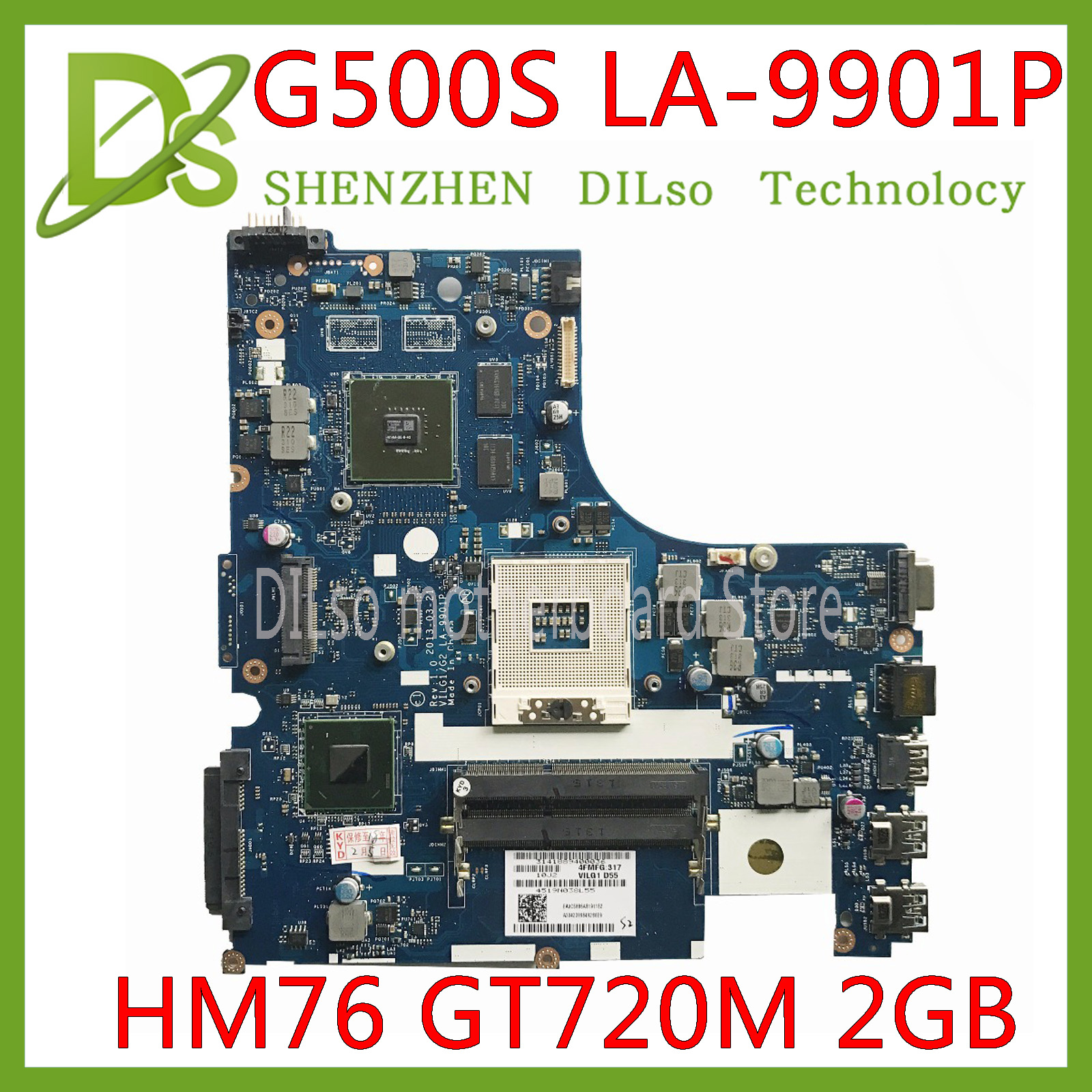 KEFU LA-9901P Laptop Motherboard For Lenovo G500S Motherboard VILG1 LA-9901P HM76 100% Tested