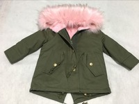 Hot sell Winter Girls Coats Jackets Kids Artificial Fur Collar Thick Coat For Baby Girl Children Russia Spring Outwear Girls