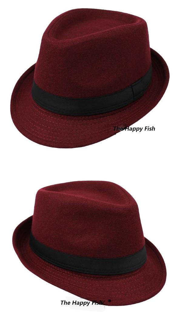 Original Unisex Structured Wool Fedora Hat Fedora hats for men fedora felt hat (13)