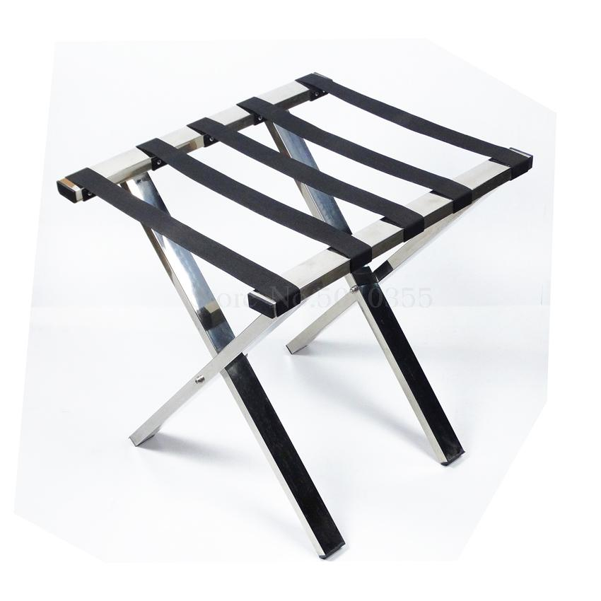 Hotel luggage rack stainless steel rack hotel room folding luggage clothing tray rack home office