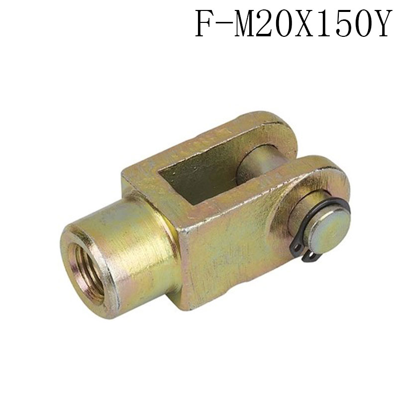 1 pcs Y Joint M20x1.5mm Female to Male Thread Pneumatic Cylinder Piston Clevis,F-M20X150Y Cylinder fittings 38mm cylinder barrel piston kit
