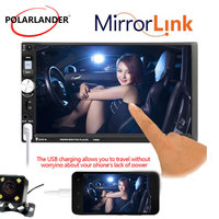 MP5 Player Stereo FM USB TF 2DIN 7 Inch Rear Camera Touch Screen Bluetooth Mirror Link Screen Car Radio Mirror For Android Phone
