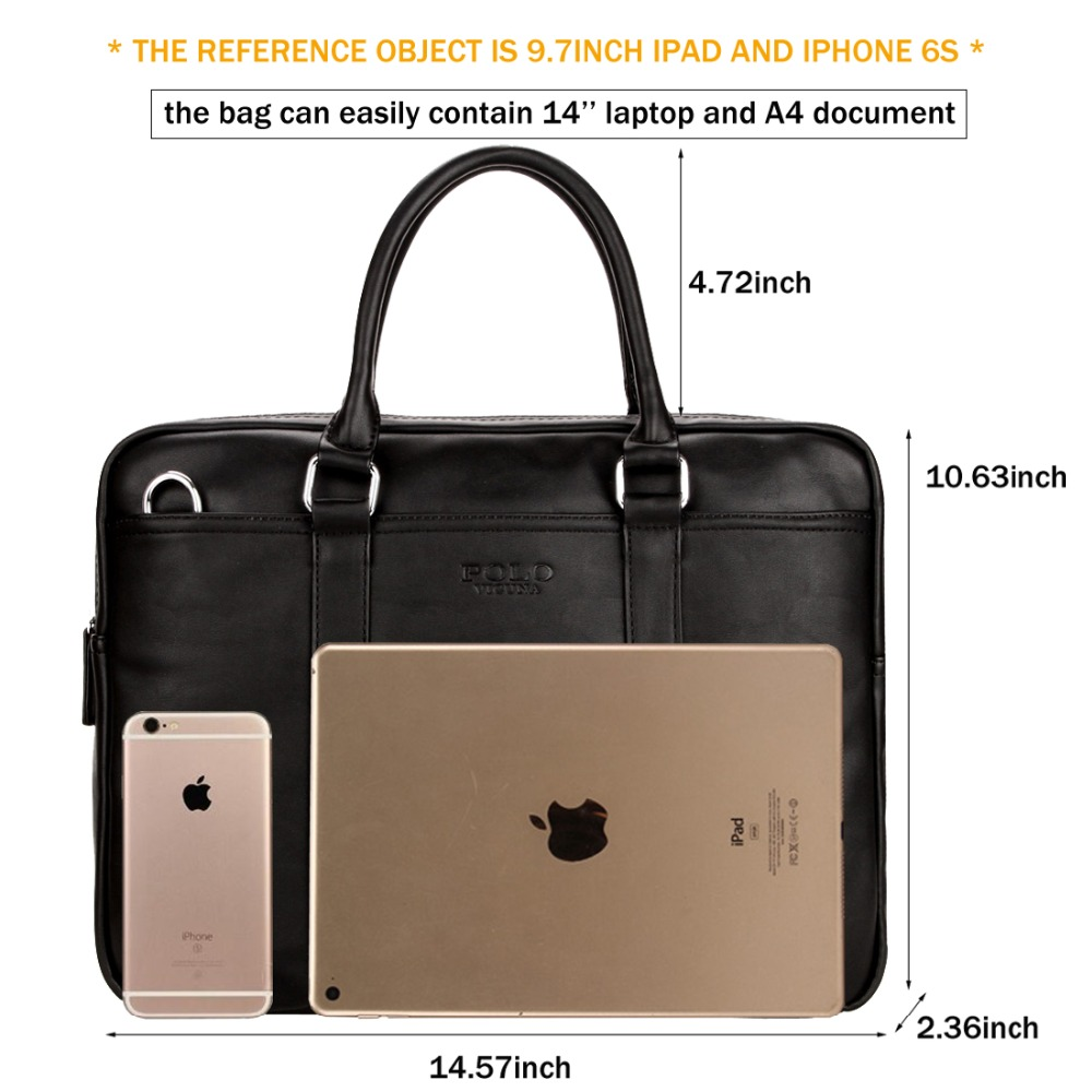15df3c22d6 VICUNA POLO Famous Brand Fashion Casual Business Men Leather Briefcase Bag  Trendy Solid Leather Mens Handbag Simple Men Bag New - aliexpress.com -  imall.com