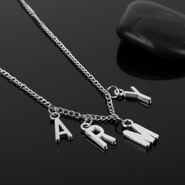 New design bts kpop army necklace women men jewelry collier korea new design bts kpop army necklace women men jewelry collier korea fashion bts album love yourself solutioingenieria Image collections