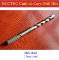 [SDS MAX] сверла NCCTEC с настенным ядром  22*350 мм  0 88 дюйма  NCP22SM350  для сверлильного станка bosch  бесплатная доставка