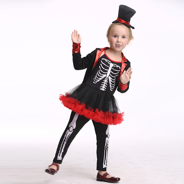 2018 Hot Skeleton Cosplay Costume Children Pirate Halloween Costume Kids Girl Performance Dance Christmas Cartoon Costume  sc 1 st  AliExpress.com & 2018 Hot Skeleton Cosplay Costume Children Pirate Halloween Costume ...