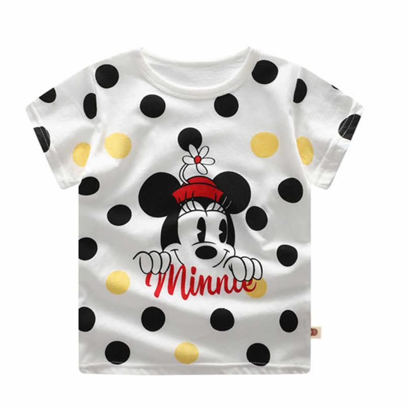 3ca729a9dd 2019 Mickey Summer Girls & Boys Short Sleeve T Shirts Cartoon Print T-shirt  Striped