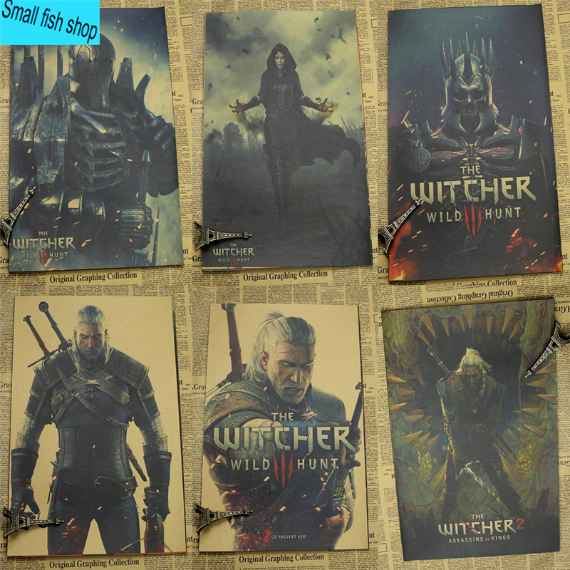 The Witcher Verbeterde Editie Game Poster Woninginrichting decoratie Kraft Game Poster Tekening kern Muurstickers