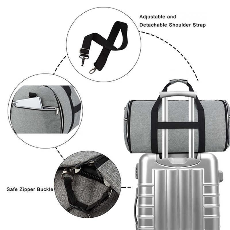Сумка-трансформер 2 в 1 Gar для мужчин с плечевым ремнем, роскошная одежда, вещевой мешок для мужчин и женщин, висящий чемодан, костюм, дорожные сумки