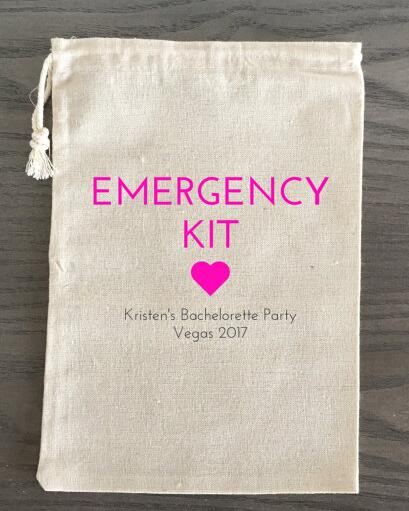 custom wedding emergency kit thank you bags muslin favor gift welcome candy pouches bachelorette bridal shower party gift bag in gift bags wrapping