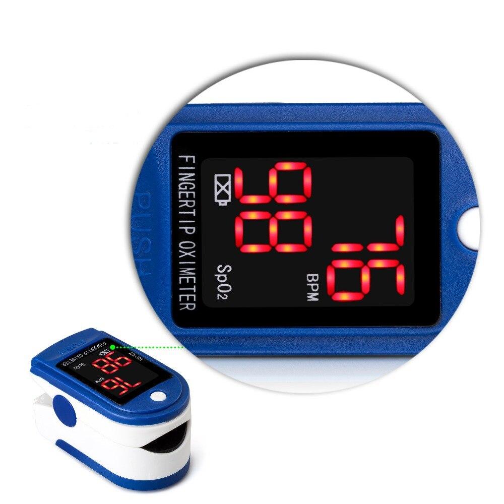 Nouveau D'OLED Digital Pulsioximetro Mesurée L'hémoglobine Saturation du Pouls de dedo Oximetro Oxymètre de Pouls Doigt de Soins de Santé