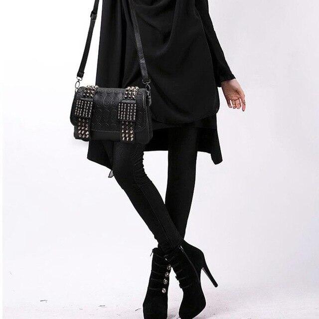 DIINOVIVO 2021 New Rivet Women Bag PU Leather Shoulder Bags Skull Bag Punk Crossbody Bags For Women Chain Messenger Bag WHDV0934 2