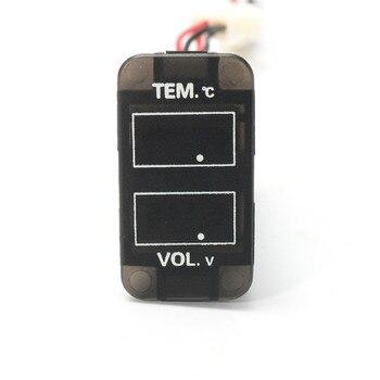 Schwarz Kunststoff 0 ~ 30 V LED Digital Voltmeter Temperatur Spannung Temp Gauge 55 Cm Draht Länge Langlebige Qualität