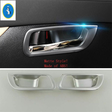 Yimaautotrims Auto Accessory Front Car Inner Door Handle Bowl Cover Trim ABS Fit For Toyota Alphard / Vellfire AH30 2016 - 2019 yimaautotrims auto accessory rear door stereo speaker audio sound cover trim fit for toyota alphard vellfire ah30 2016 2019