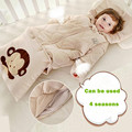 Top quality Algodão Orgânico saco de dormir saco De Carrinho de Criança Swaddle Envoltório bonito Jogo de Cama de Inverno Recém-nascidos 0-12 meses do bebê Dormir saco Novo