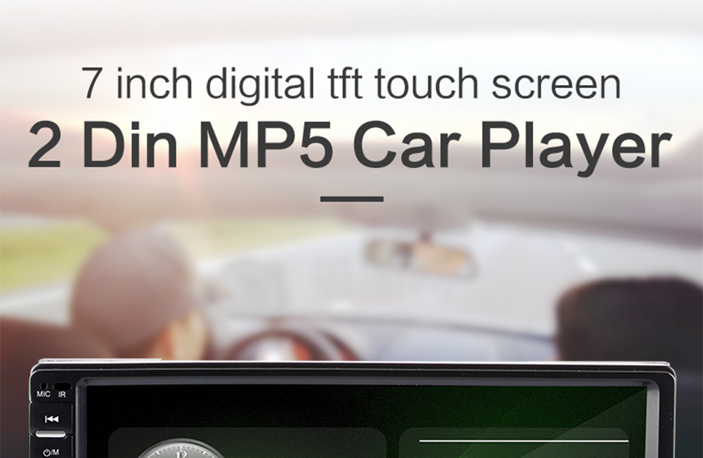 Banos Tft.Aliexpress Com Buy 2 Din Car Radio 7 Hd Touch Screen Player Mp5 Sd Fm Mp4 Mp3 Usb Aux Bluetooth Car Audio Support Rear View Camera Remote Control