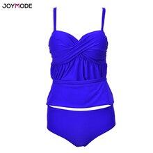 JOYMODE Plus Size Push Up Multi Color Two Piece Bikini Swimsuit