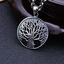 S925 tailandesa Solid árbol de plata of Life colgantes para hombre collar de la joyería 100% Real Pure genuino plata esterlina 925 CP17