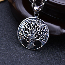 S925 Solid Thai Silver Tree of Life Pendants for Necklace Men Jewelry 100% Real Pure Genuine 925 Sterling Silver Pendant CP17