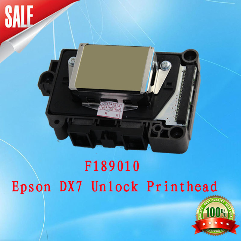 New Original DX7 Print Head for Ep Best price Eco-solvent DX7 printhead (F189010 unlock) printhead new vision for EP