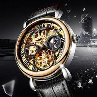 AILANG original design Adult male wrist watch men, mechanical gear S3 boundary, gear movement automatic mechanical watch 2018