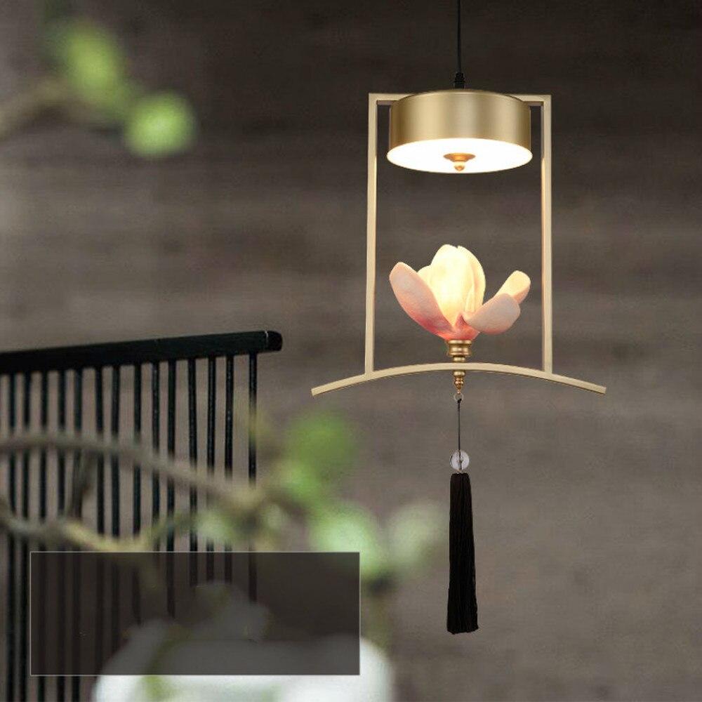 Créatif nouveau chinois petit lustre restaurant bar unique tête lustre table à manger porche balcon art lumière LL03161333