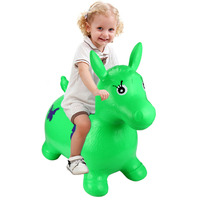 Kids Inflatable Horse Jump Bounce Space Hopper Outdoor Animal Ride On Toy Fun Jumping Horse Ride On Bouncy Play Toys Large Size
