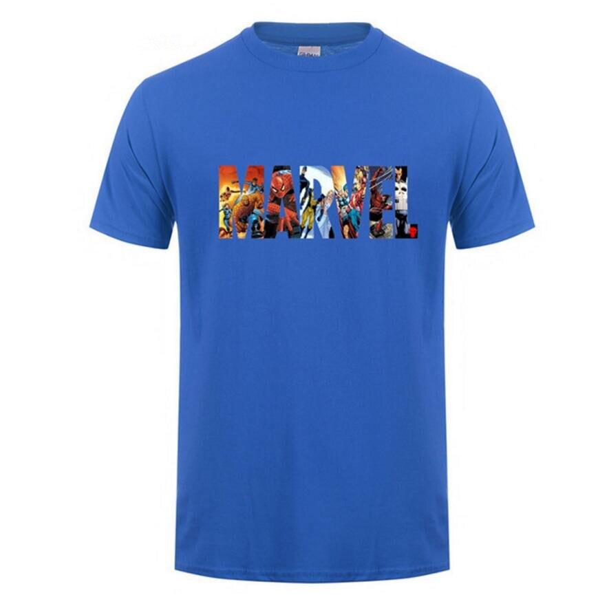 0a895544704 2018 Fashion print Marvel Short Sleeve T-shirt Men Superhero t shirt  heisenberg O-