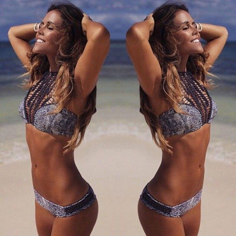 leopardo sexy costume da bagno modelli femminili 2016 nuovo bikini push up swimwear lady beach vestito
