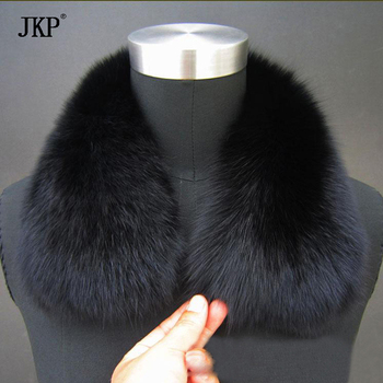 Real Fox Fur Collar Women and Men 100% Natural Fox Fur Scarf Winter Neck Warmer coat Fur Collar Short fashion Scarves image