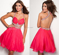 Sparkly Crystal Short Cocktail Party Dresses Backless Halter Sexy New Cocktail Dress Women Special Occasion Gowns Vestidos