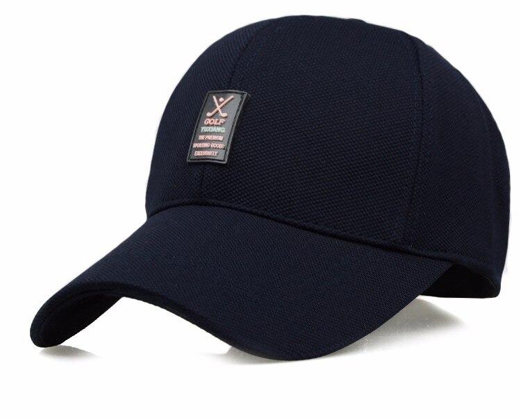 Golf Clubs Emblem Baseball Cap - Blue Cap Option