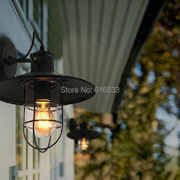 Vintage Amerikanische Land Persönlichkeit Loft Antike Industrielager Käfig Wandleuchte Lampe Bad Spiegel Beleuchtungskörper Stabile Konstruktion