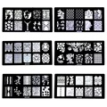 New arrival nail stamping plates 30 Designs optional 1 pcs stamp template Nail Art Image stamper Plates stencil Na4007