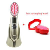Laser Hair Growth Comb Hair Brush Laser Hair Loss Stop Regrow Therapy Comb Ozone Infrared RF EMS Nurse LED Photon Laser Massager
