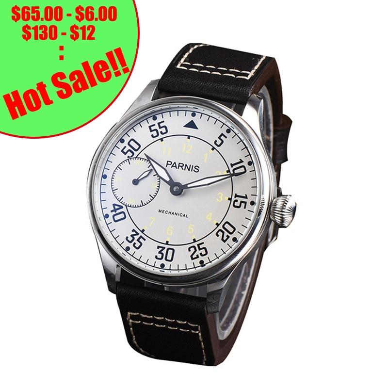 Parnis 44mm remontage à la main montres mécaniques 17 bijoux mouvement lumineux main vent montre montres Reloj Hombre 2018 luxe
