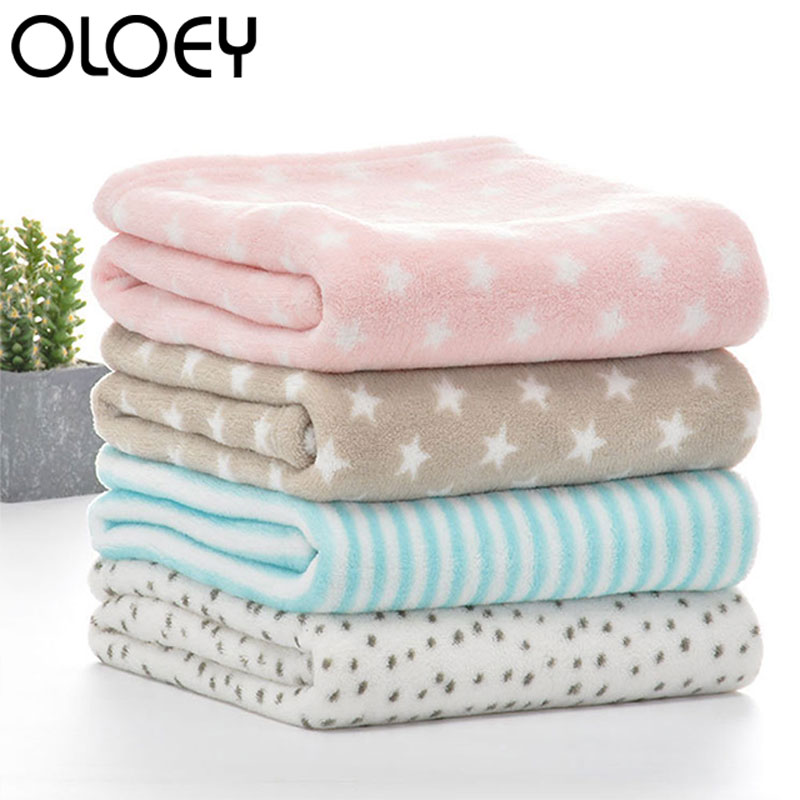 Baby Blankets Newborn Cartoon Soft Comfortable Blanket Coral Fleece Manta Bebe Swaddle Wrap Bedding Set 75*100cm For Kids