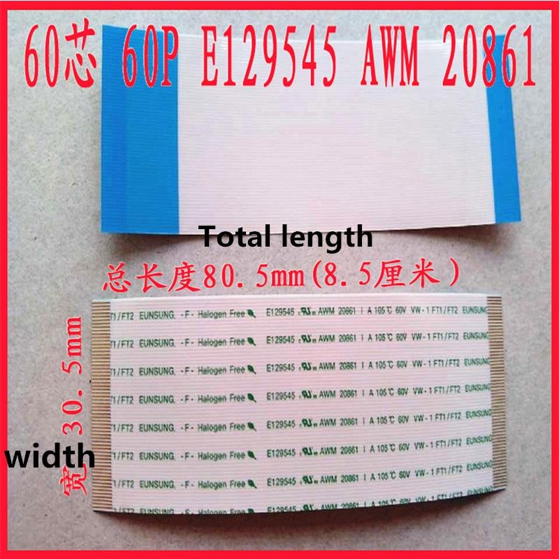 1pcs New E129545 AWM 20861 105C 60V gold-plated 60P long 85mm wide 30.5mm kotobo e188165 awm 20861 105c 60v vw 1 flexible cable ribbon cable 12pin 0 5mm spacing 158mm long