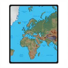 Buy map blankets and get free shipping on aliexpress charm home needyou world map fleece throw blanket 50 x 60 gumiabroncs Image collections