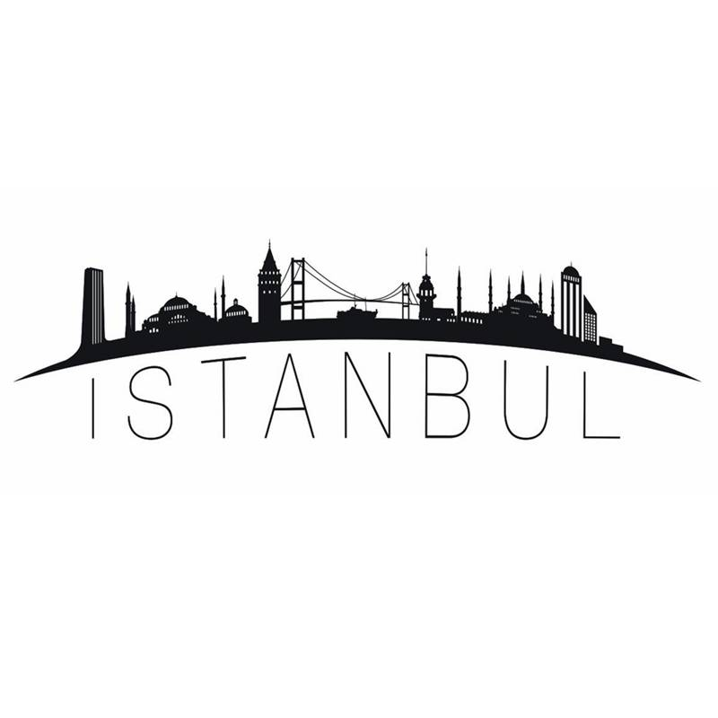 istanbul city decal landmark skyline wall stickers sketch decals poster parede home decor